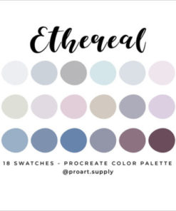 ethereal procreate color palette graphics x download now brushespack