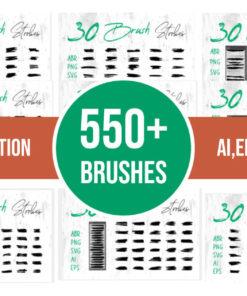 grunge art brush bundle bundles fb download now brushespack