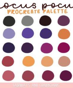 hocus pocus procreate palette download now brushespack