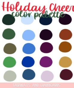 holiday cheer procreate color palette download now brushespack