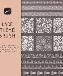 lace theme procreate brush bundle graphics x download now brushespack