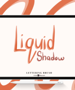 liquid shadow procreate lettering brush graphics x download now brushespack