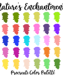 natures enchantment procreate palette graphics 4216153 1 1 580x387 download now brushespack