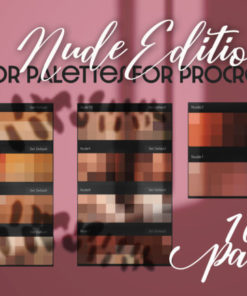 nude skin color palette for procreate graphics x download now brushespack