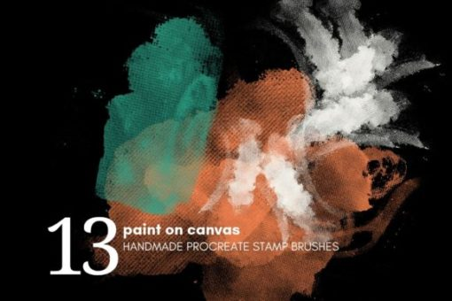 paint on canvas procreate brushes graphics x download now brushespack