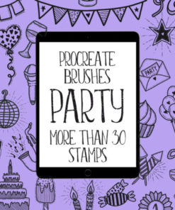 party birthday brushes for procreate graphics x download now brushespack