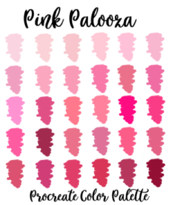 pink lovers procreate palette swatches graphics 4216163 1 1 580x387 download now brushespack