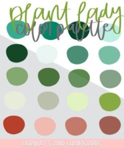 plant lady procreate color palette download now brushespack