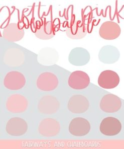 pretty in pink procreate color palette download now brushespack