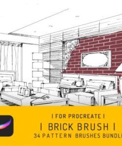procreate brick seamless texture brush graphics x download now brushespack