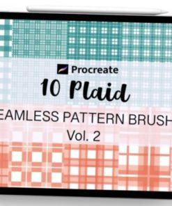 procreate brush plaid seamless pattern graphics x download now brushespack