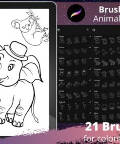 procreate brush stamp cute animals graphics x download now brushespack