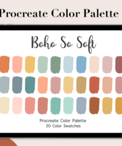 procreate color palette boho so soft graphics x download now brushespack