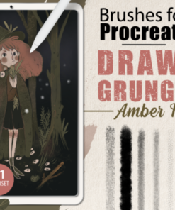 procreate drawing grunge brushes graphics x download now brushespack