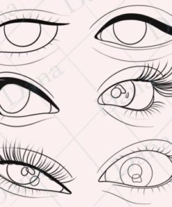 procreate eye stamp brushes graphics x download now brushespack