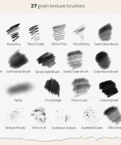 procreate grain brushes download now brushespack