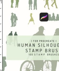 procreate human silhouette stamp brush graphics x download now brushespack