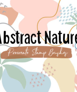 procreate stamp brush abstract nature graphics x download now brushespack