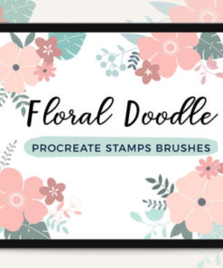 procreate stamp brushes floral doodle graphics x download now brushespack