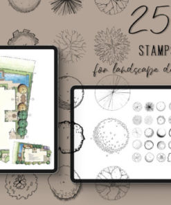procreate stamps for landscape designers graphics x download now brushespack