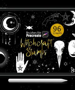 procreate witchcraft stamp download now brushespack