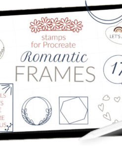 procreate frames stamps decor stamps graphics x download now brushespack