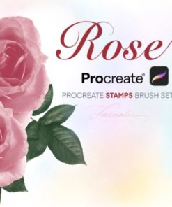 realistic rose procreate stamp graphics x download now brushespack