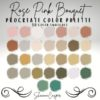 rose bouquet color palette for procreate graphics x download now brushespack