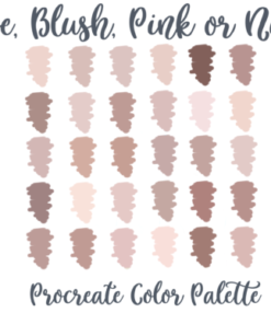 rose nude pink blush procreate palette graphics 4216826 1 1 580x387 download now brushespack
