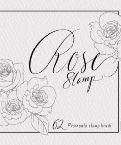 rose stamp procreate brush graphics x download now brushespack
