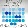 shades of blue procreate color palette graphics x download now brushespack