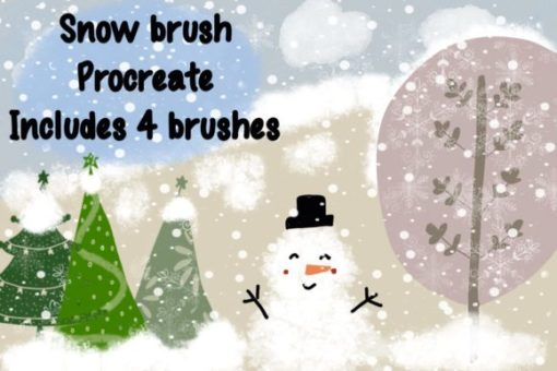 snow brush pattern for procreate graphics x download now brushespack