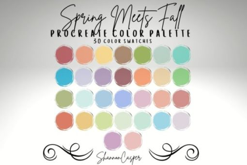 spring color palette for procreate graphics x download now brushespack