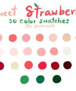 sweetstrawberryprocreate color palettes graphics x download now brushespack