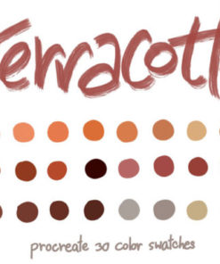 terracotta procreate color palettes graphics x download now brushespack
