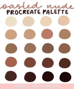 toasted nudes procreate color palette download now brushespack