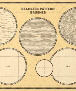 vintage map procreate brushes download now brushespack