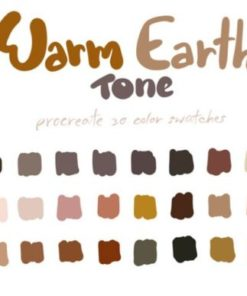warm earth tones graphics x download now brushespack