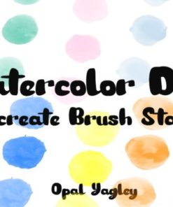 watercolor dots procreate stamps graphics x download now brushespack