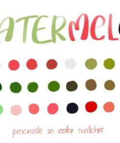 watermelon procreate color palettes graphics x download now brushespack