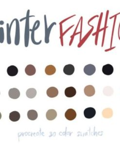 winter fashionprocreate color palettes graphics x download now brushespack