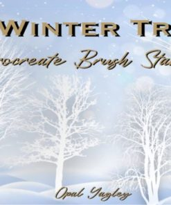 winter tree procreate stamps graphics x download now brushespack