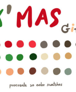 xmas gifts procreate color palettes graphics x download now brushespack