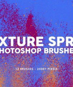 texture spray photoshop brushes brushespack