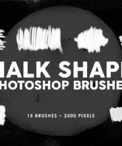chalk shapes photoshop stamp brushes brushespack