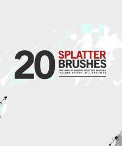 splatter brushes brushespack