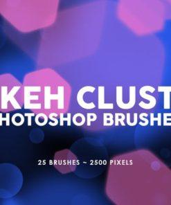 bokeh cluster photoshop stamp brushes brushespack