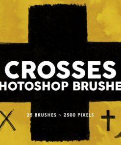 crosses photoshop stamp brushes brushespack