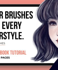 hair brushes for every hairstyle procreate brushespack
