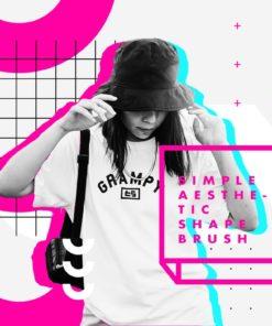 + aesthetic shape brushes photoshop brushespack